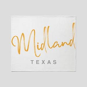 Midland Texas Throw Blanket