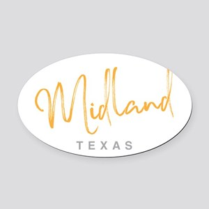 Midland Texas Oval Car Magnet