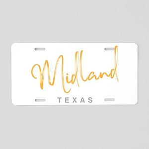 Midland Texas Aluminum License Plate