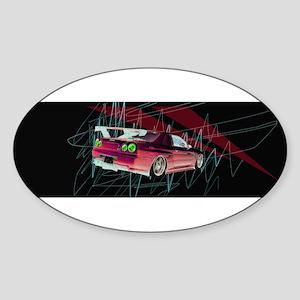 Godzilla Oval Sticker