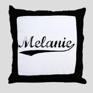Vintage Melanie (Black) Throw Pillow