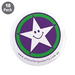 "Star Allergy Alerts - logo 3.5"" Button (10 pa"