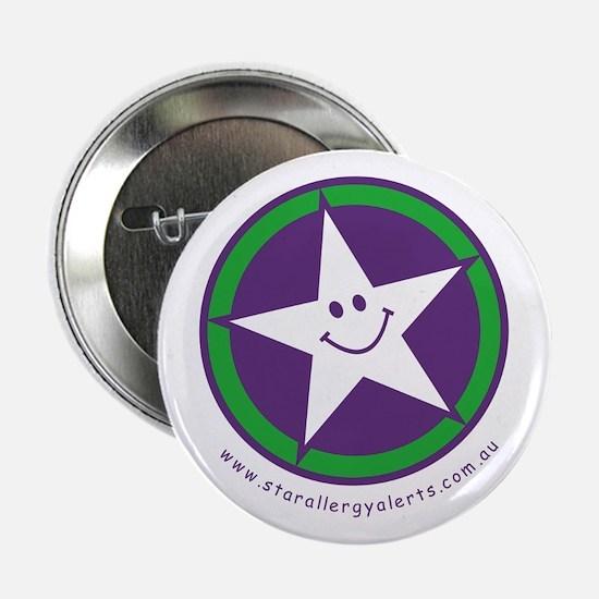 """Star Allergy Alerts - logo 2.25"""" Button"""