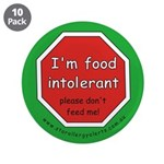 """I'm food intolerant-allergy a 3.5"""" Button (10"""