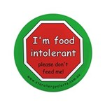 """I'm food intolerant-allergy a 3.5"""" Button"""