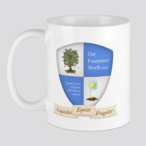 Our Fourpence Worth Crest Mug