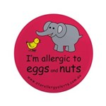 """Eggs and nuts-red 3.5"""" Button"""