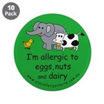 """Eggs, nuts and dairy 3.5"""" Button (10 pack)"""