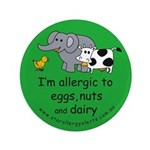 """Eggs, nuts and dairy 3.5"""" Button"""
