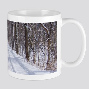 snow trail Mugs