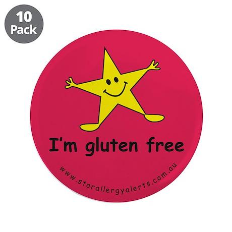 "I'm gluten free 3.5"" Button (10 pack)"