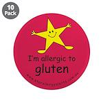 """allergic to gluten 3.5"""" Button (10 pack)"""