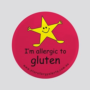 "allergic to gluten 3.5"" Button"
