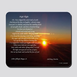 High Flight Austria Sunrise Mousepad