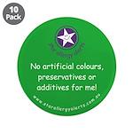 """No Artificials 3.5"""" Button (10 pack)"""