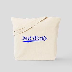 Vintage Fort Worth (Blue) Tote Bag