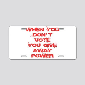 Voter Aluminum License Plate