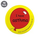 """I have asthma-medical alert 3.5"""" Button (10 p"""