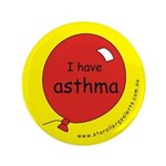 "I have asthma-medical alert 3.5"" Button"