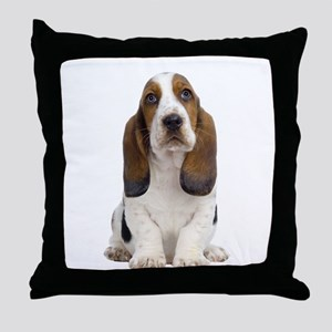 Basset Hound Picture - Throw Pillow