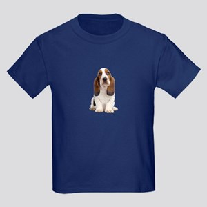 Basset Hound Picture - Kids Dark T-Shirt