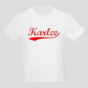 Vintage Karlee (Red) Kids Light T-Shirt