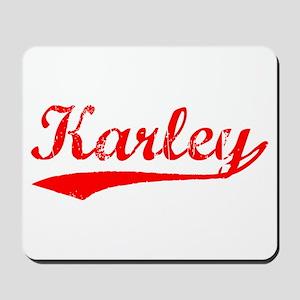 Vintage Karley (Red) Mousepad