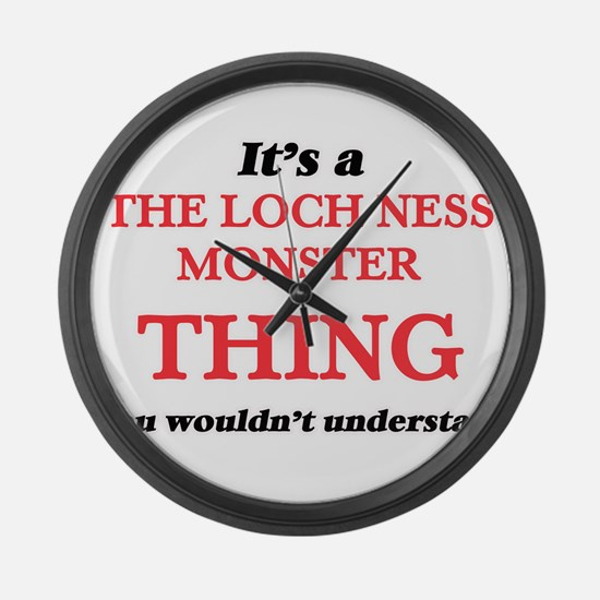 It's a The Loch Ness Monster Large Wall Clock
