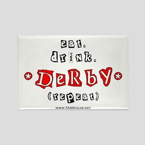 eat.drink.derby Rectangle Magnet