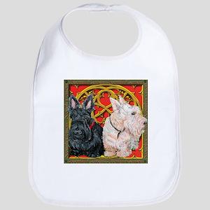 Scottish Terriers Celtic Dogs Bib