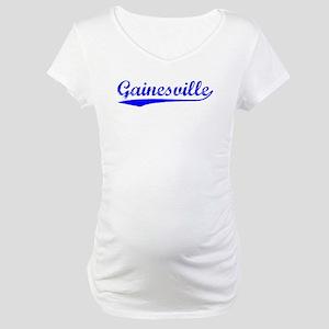 Vintage Gainesville (Blue) Maternity T-Shirt