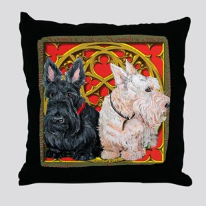 Scottish Terriers Celtic Dogs Throw Pillow
