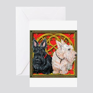 Scottish Terriers Celtic Dogs Greeting Card