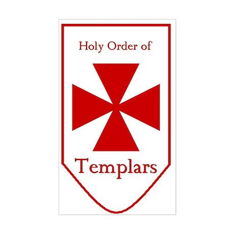 Templars Rectangle Sticker