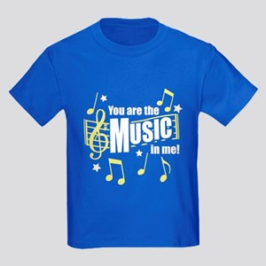 You Are The Music In Me Kids Dark T-Shirt