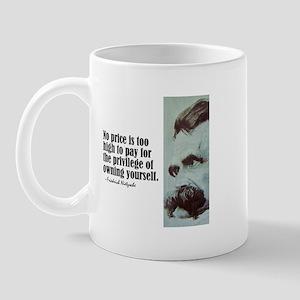 """Nietzsche """"No Price"""" Mug"""
