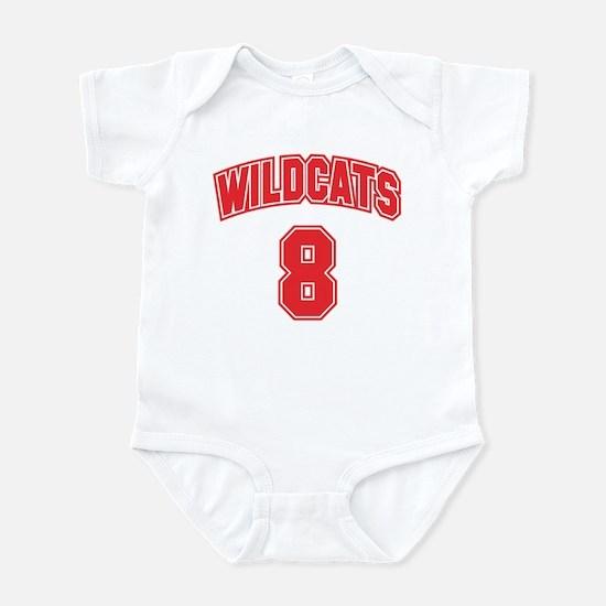 Wildcats 8 Infant Bodysuit
