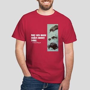 """Nietzsche """"Sick Music"""" Dark T-Shirt"""