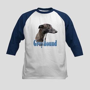 Greyhound Name Kids Baseball Jersey