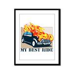 Best ride Framed Panel Print