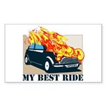 Best ride Rectangle Sticker 10 pk)