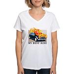 Best ride Women's V-Neck T-Shirt