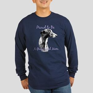 Greyhound Mom1 Long Sleeve Dark T-Shirt