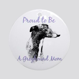 Greyhound Mom1 Ornament (Round)