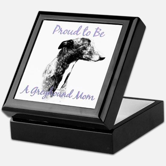 Greyhound Mom1 Keepsake Box
