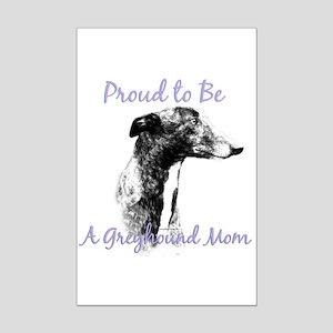 Greyhound Mom1 Mini Poster Print
