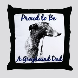 Greyhound Dad1 Throw Pillow