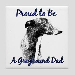 Greyhound Dad1 Tile Coaster