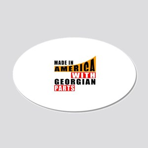 Made In America With Georgia 20x12 Oval Wall Decal