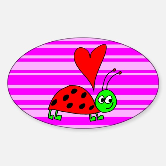 Lady Bug Oval Decal